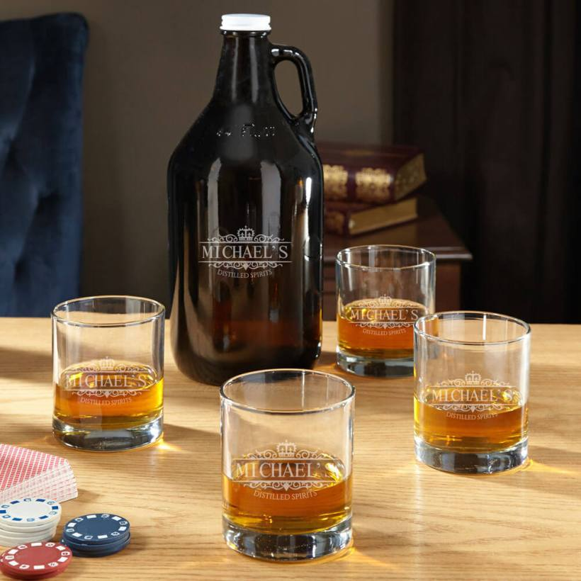 Growler Whiskey Glass Set