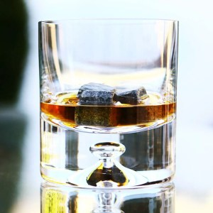 Whiskey Stones in a Glass