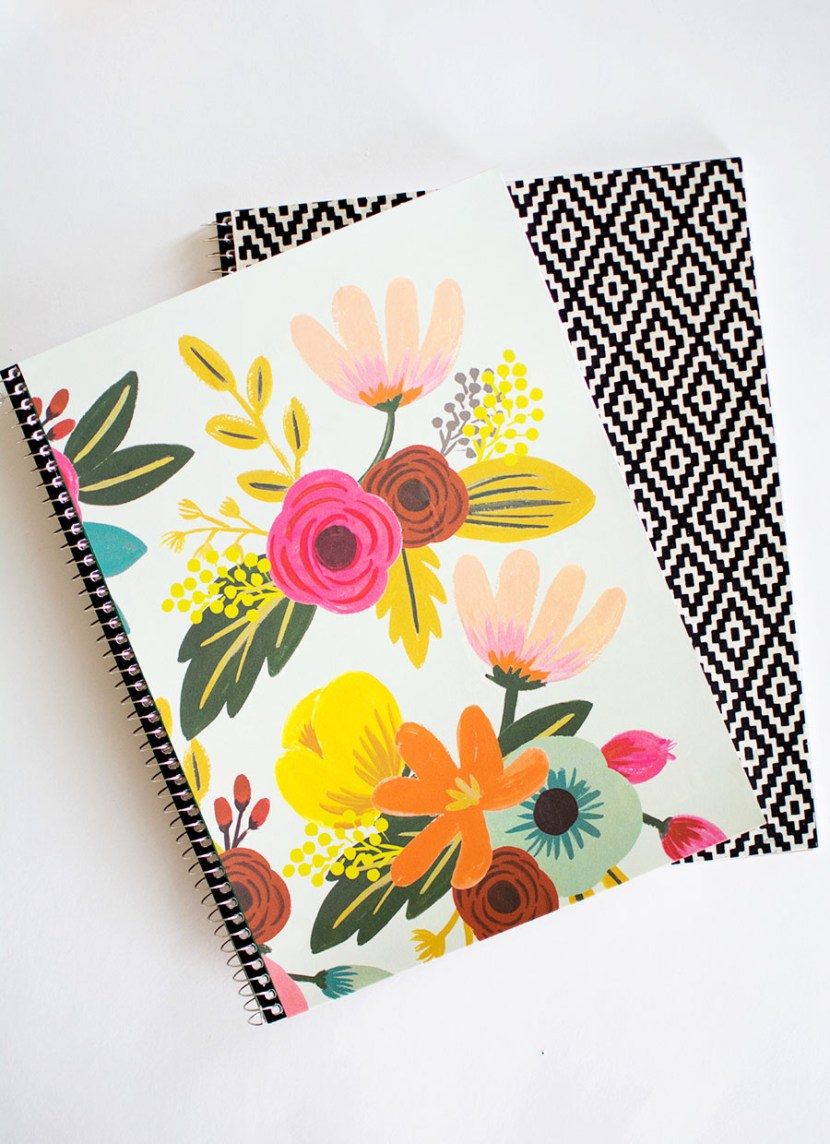 paper covered notebooks.  cute!