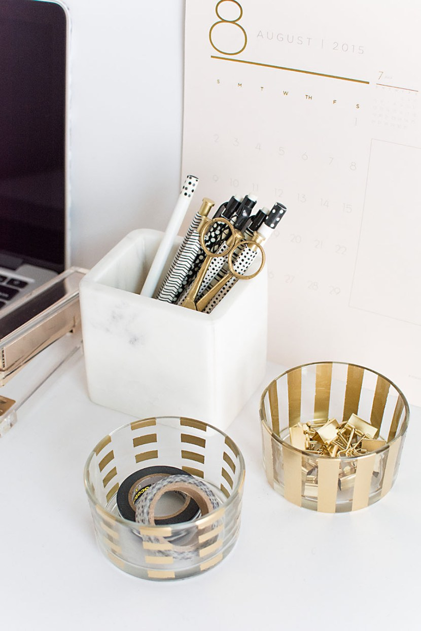 Diy desk accessories pottery barn for Diy office accessories