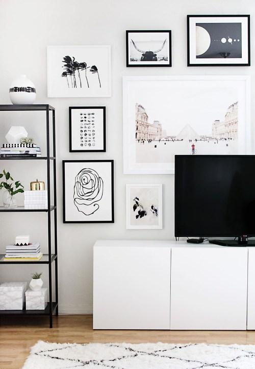 Medium Of Gallery Wall Layout