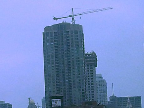 Crane atop a building under construction in Chicago #LoveThisCity #CBias
