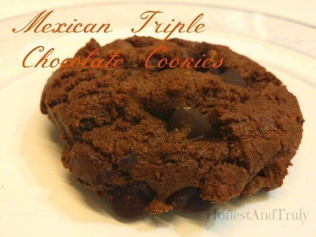 Mexican triple chocolate cookie