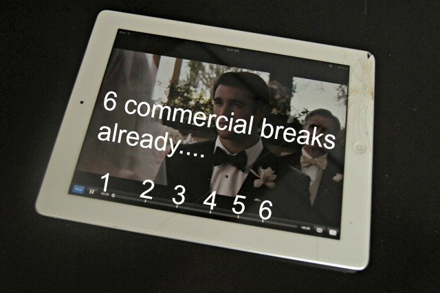Streaming has 6 commercial breaks per hour show