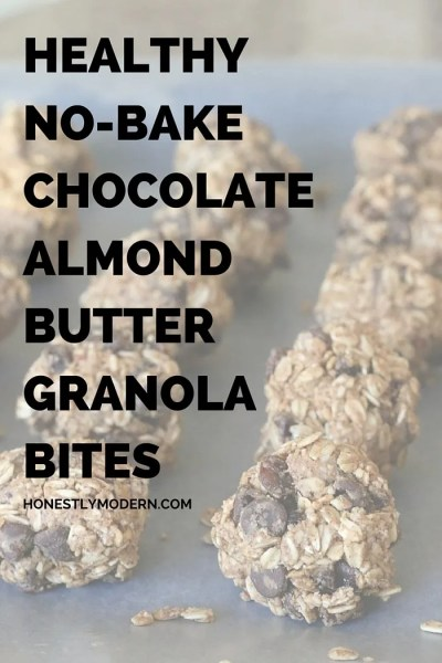 Healthy No Bake Chocolate Almond Butter Granola Bites