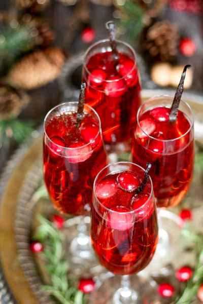 Vanilla Cranberry Mimosa - The Perfect Easy Holiday Cocktail