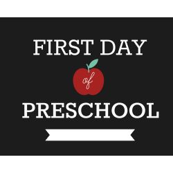 Small Crop Of First Day Of Kindergarten Sign
