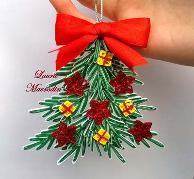 paper quilling christmas tree ornament