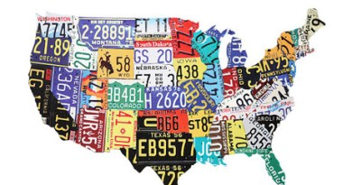 USA road trip graphic