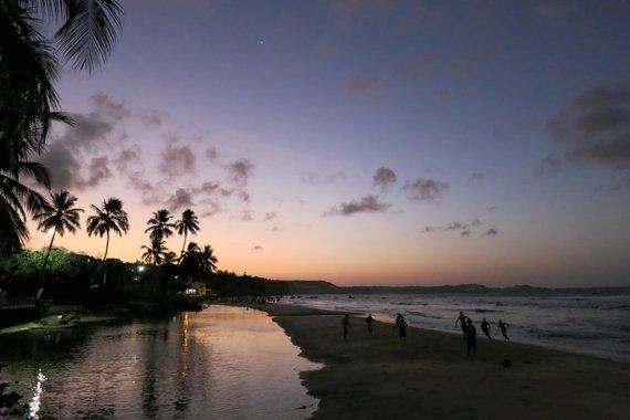 Sand soccer, sand futebol in Praia de pipa
