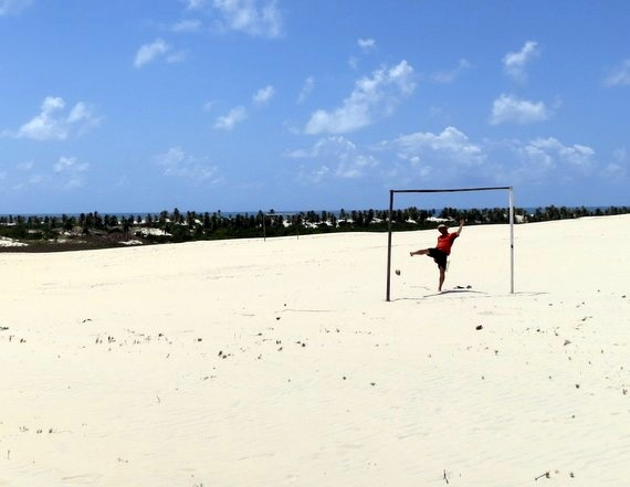 Brazil Soccer on Sand in Mangue Seco