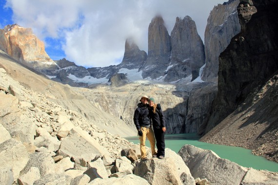 Mike Howard and Anne Howard at Torres del Paine, Patagonia