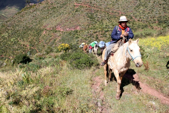 Andean Treks WATA trailhead to meet our hiking crew, encompassing two guides, two chefs, four wranglers, and six horses