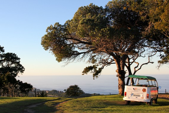 VW van at Wild Farm on the Wild Coast of South Africa