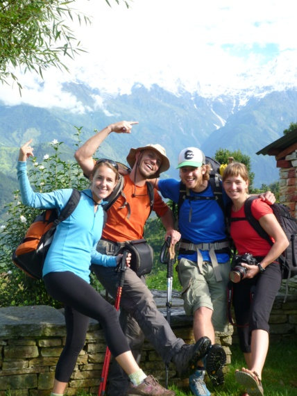 HoneyTrek with Annapurna hikers