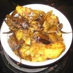 Kadai Aloo Baingan (Potatoes & Brinjal)