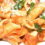 Penne Arrabbiata (Pasta cooked in Red Chili flakes and Olive Oil)