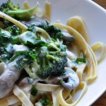 Taste and Believe… Mushroom & Broccoli Fettuccine Alfredo (REDUCED FAT)