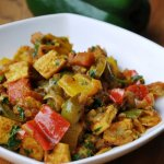Tofu Jalfrezi (Tofu cooked with Three Peppers)