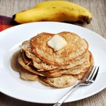 Nog Banana Pancakes