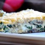 Cast Iron Skillet Spinach & Mushroom Frittata