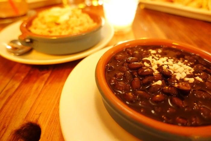 Frijoles Negros Arroz, Black Beans Rice - Papatzul, NYC