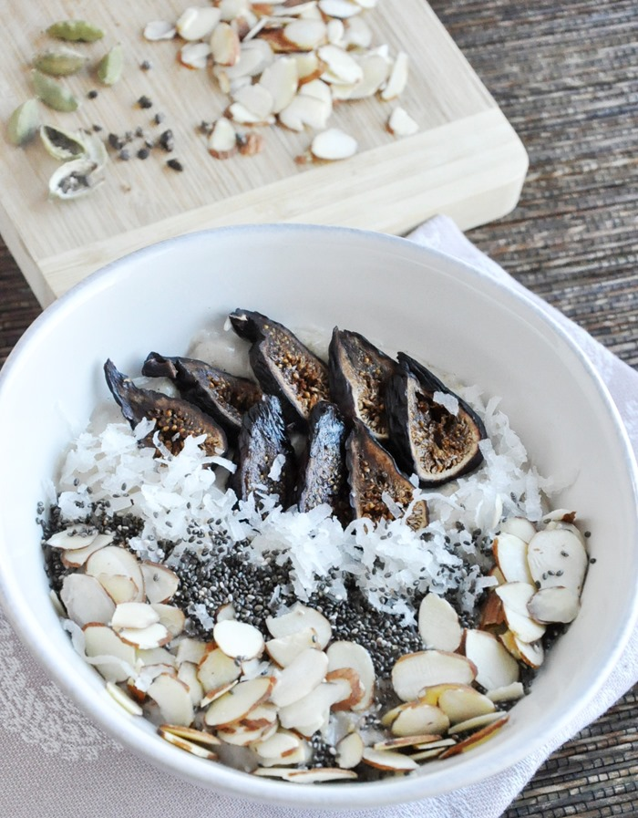 Fig Almond & Cardamom Oatmeal - Honey, Whats Cooking