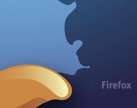 fondo azul dorado firefox