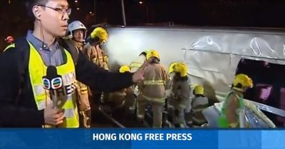 Anger over Hong Kong TVB's lack of apology over reporters' conduct at Tai Po bus crash scene ...