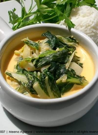 Bok Choy in Coconut Milk
