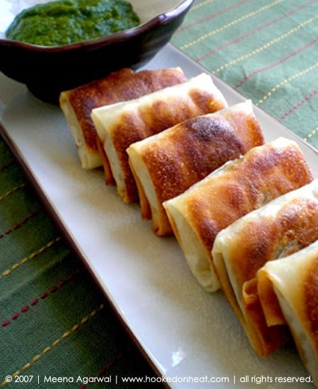 Recipe for Spiced Potato Parcels taken from www.hookedonheat.com. Visit site for detailed recipe.