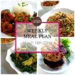 Weekly Meal Plan: March 16th-22nd