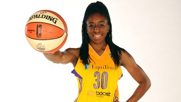 LOS ANGELES, CA - MAY 21:  Los Angeles Sparks media day at Galen Center on May 21, 2015 in Los Angeles, California.  NOTE TO USER: User expressly acknowledges and agrees that, by downloading and or using this photograph, User is consenting to the terms and conditions of the Getty Images License Agreement. Mandatory Copyright Notice: Copyright 2015 NBAE  (Photo by Juan Ocampo/NBAE via Getty Images) *** Local Caption ***