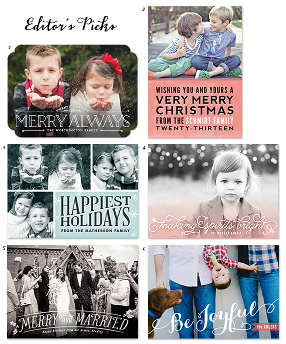 2013 holiday card editors picks