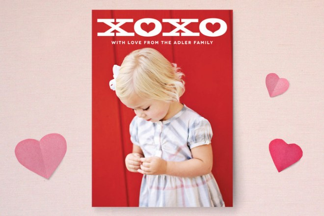 Bold XOXO Valentine's Photo Card