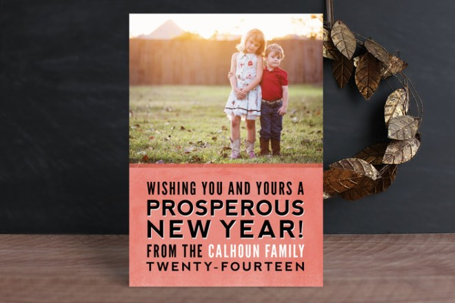 Stacked New Year's Card