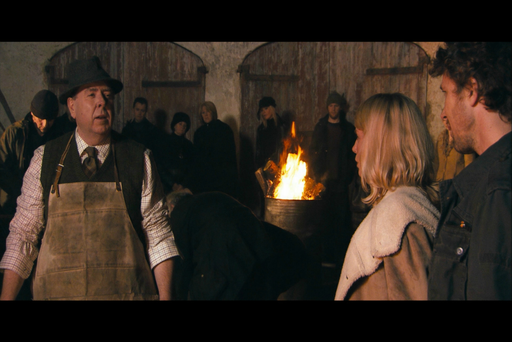 Patrick and Louise become (for a while) part of the community in Wake Wood