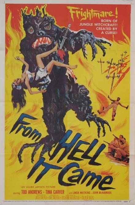 From Hell it Came movie poster 2