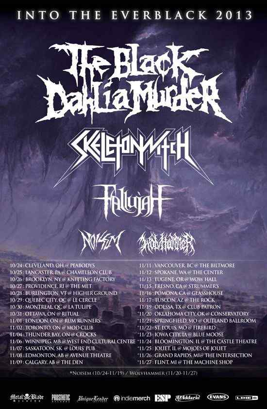 Horror Society: THE BLACK DAHLIA MURDER announce Fall North American headlining tour!   www.horrorsociety.com