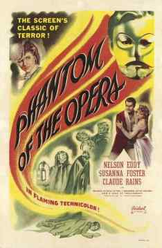 Phantom of the Opera 1943 movie poster
