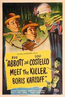 Abbott and Costello meet the Killer Boris Karloff movie poster