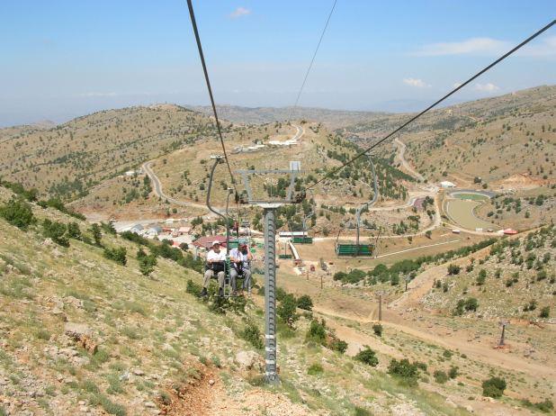 רכבל הסקי בהר חרמון ברמת הגולן