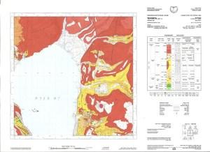 מפה גיאולוגית של אום אל קנטיר ומצפה שלום