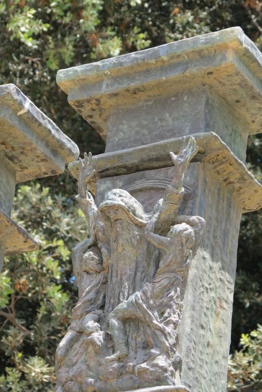 מנורת הכנסת - משה - מלחמת עמלק ברפידים