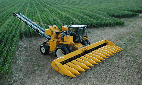 sweet corn harvester