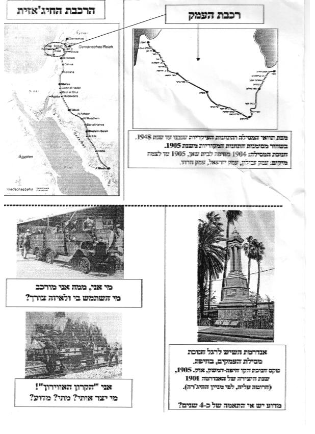 תרשים ותמונות רכבת העמק