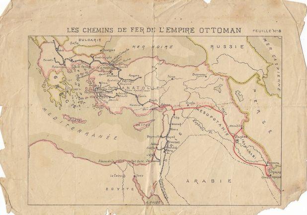 מפת מסילות הברזל באימפריה העות'מאנית