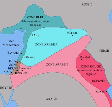 Sykes Picot Map צילום: Nataraja