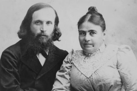 Joshua Hankin with his wife Olga