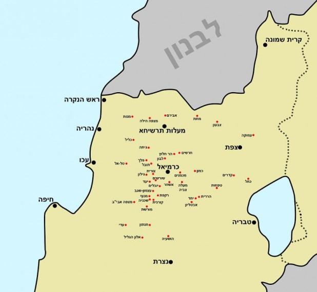 המצפים שהוקמו בגליל במסגרת התוכנית מפה: NiD123